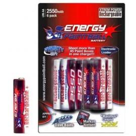 ACCU. 1,5 VOLTS ENERGY PAINTBALL (lot de 6)