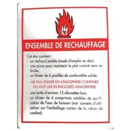 ENSEMBLE DE RECHAUFFAGE REPAS ARMEE